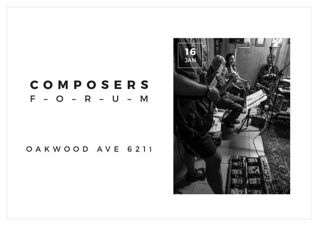 Composers Forum in Clayton Residence Cardデザインテンプレート