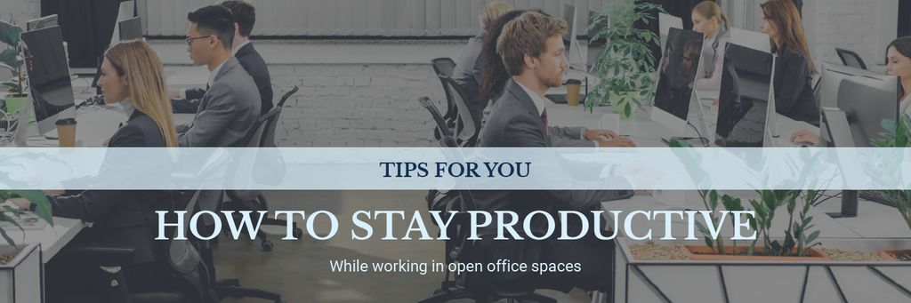 Productivity Tips Colleagues Working in Office — Crear un diseño