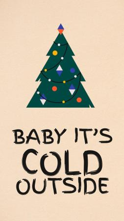 Plantilla de diseño de Walking Cute Christmas Tree Instagram Video Story