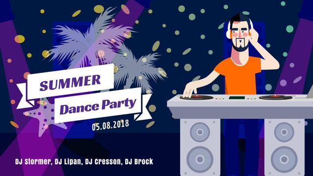 Party Invitation DJ Playing Music Full HD video – шаблон для дизайну