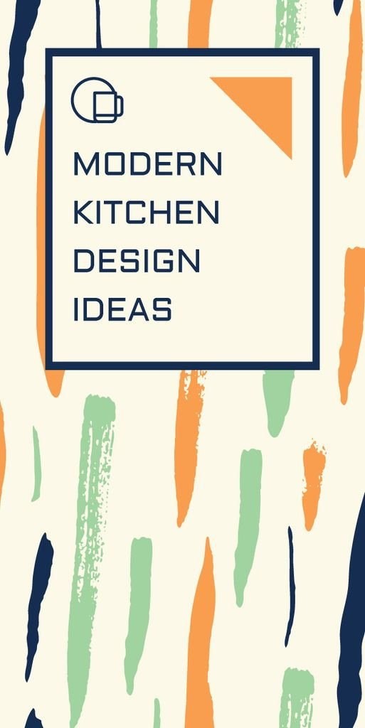 Modern kitchen design ideas poster — Crear un diseño