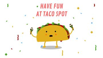 Dancing Taco with Maracas | Full Hd Video Template