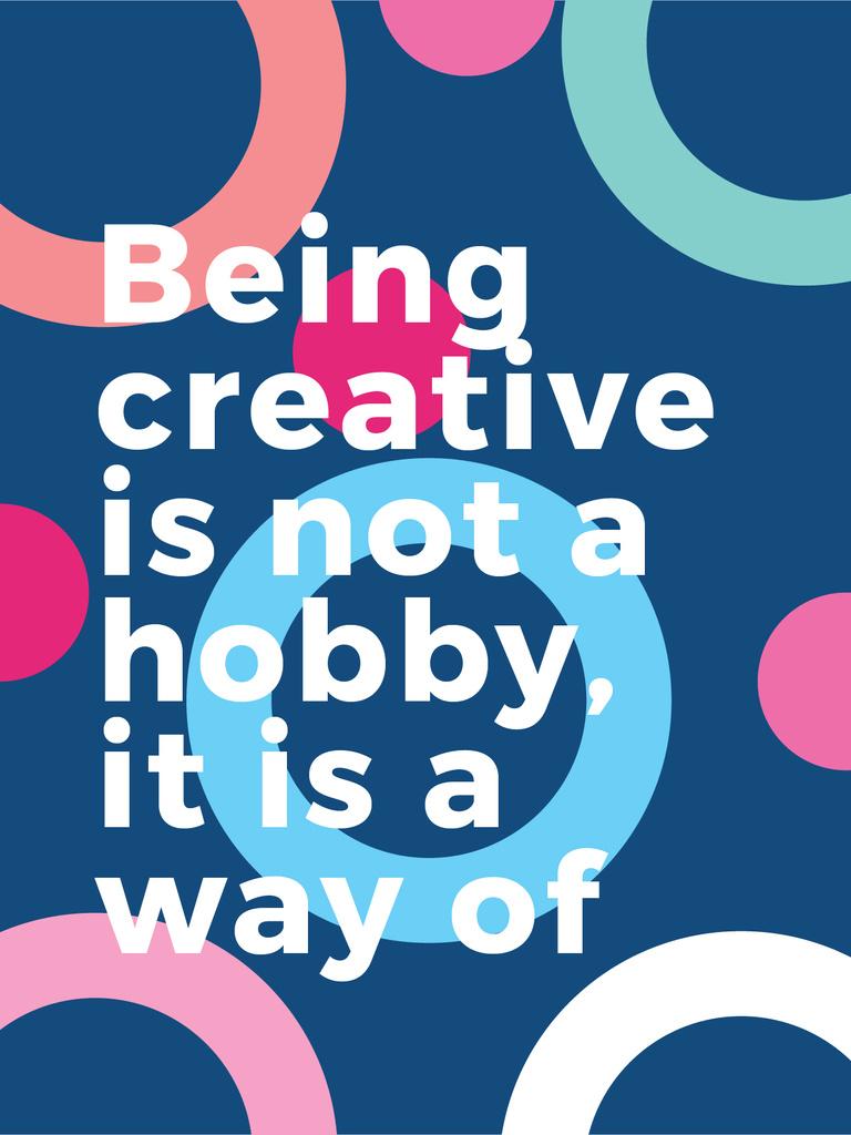 Creativity Quote on Colorful circles pattern — Modelo de projeto