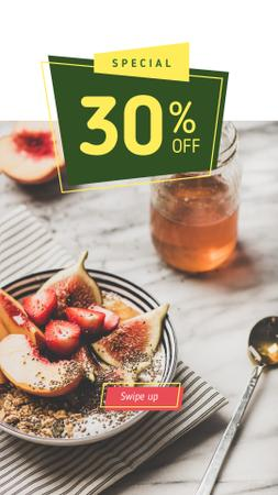 Template di design Happy Hour offer with Fruit Dish Instagram Story