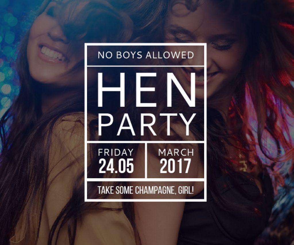 Hen party for girls in Amanda's House — ein Design erstellen