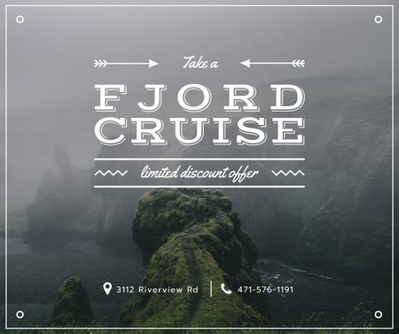 Fjord Cruise Promotion Scenic Norway View Facebook Modelo de Design