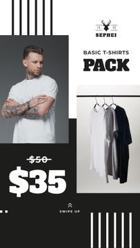 Male Clothes Store Sale Basic T-shirts