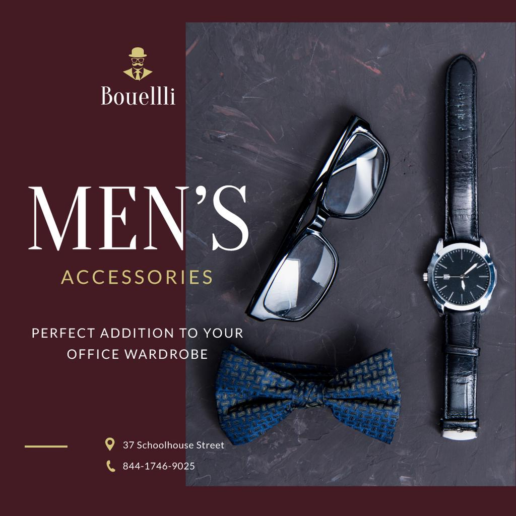Stylish Male Accessories Store Ad — Create a Design