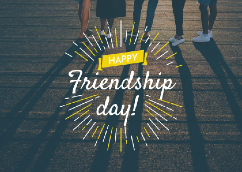Friendship Day Greeting Young People Together — Créer un visuel