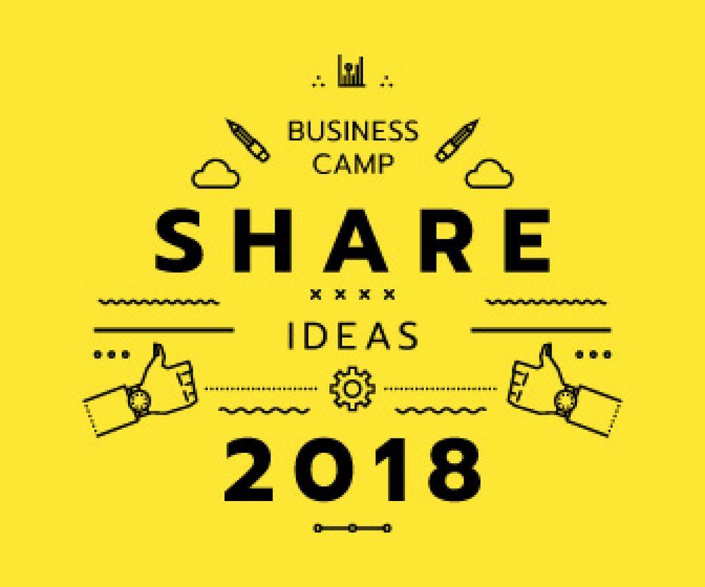 Business camp announcement — Maak een ontwerp