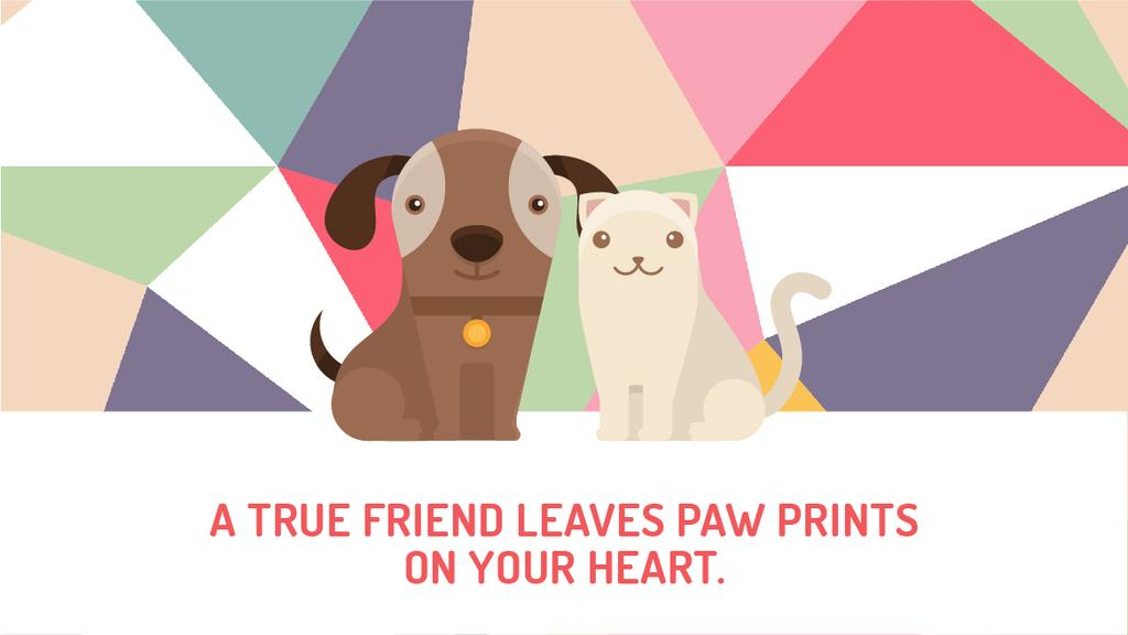 Pets Quote Cute Dog and Cat — Créer un visuel