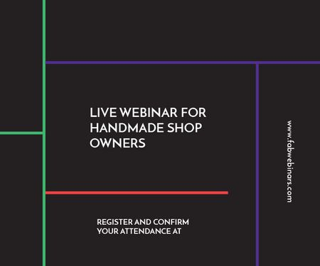 Modèle de visuel Live webinar for handmade shop owners - Medium Rectangle