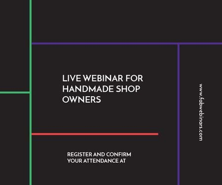 Live webinar for handmade shop owners Medium Rectangle Modelo de Design