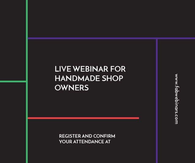 Template di design Live webinar for handmade shop owners Medium Rectangle