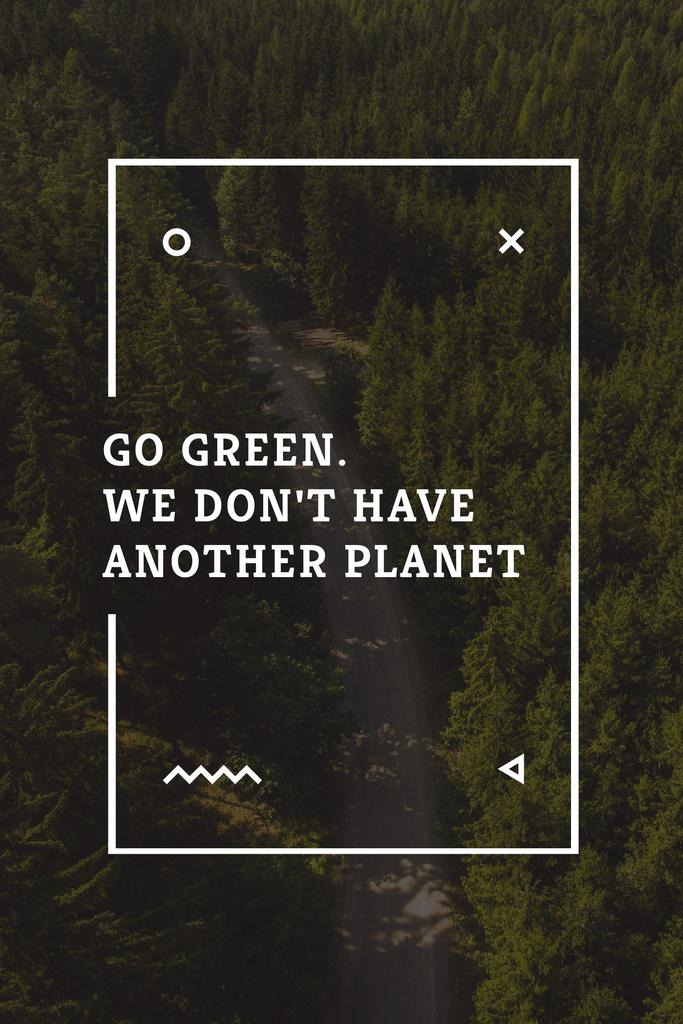 Citation about green planet — Créer un visuel
