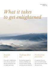 Meditation guide with scenic Mountains