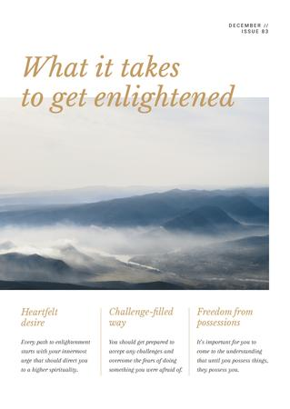 Meditation guide with scenic Mountains Newsletter Modelo de Design