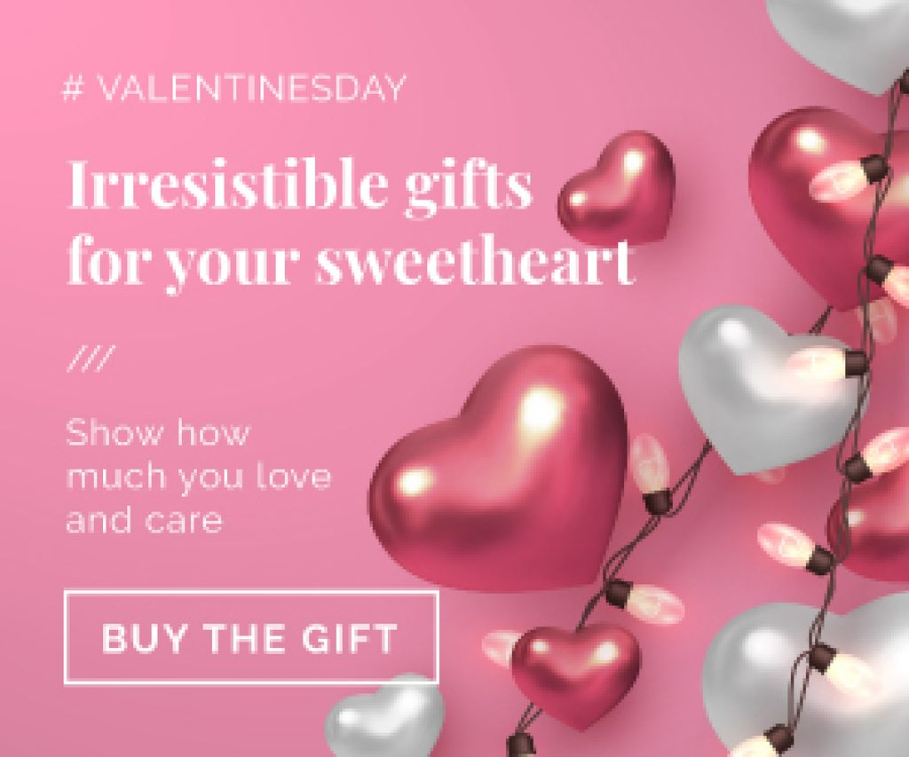 Valentines Gift Offer in pink — Створити дизайн