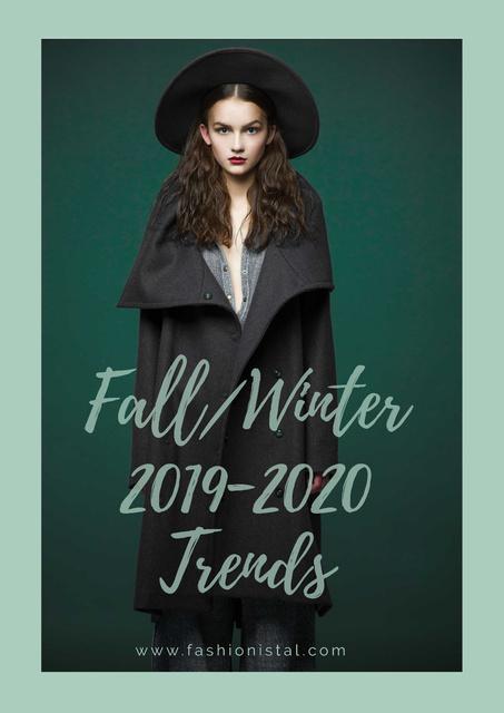 Fashion fall collection ad Poster Tasarım Şablonu