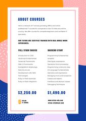 IT Courses program offer