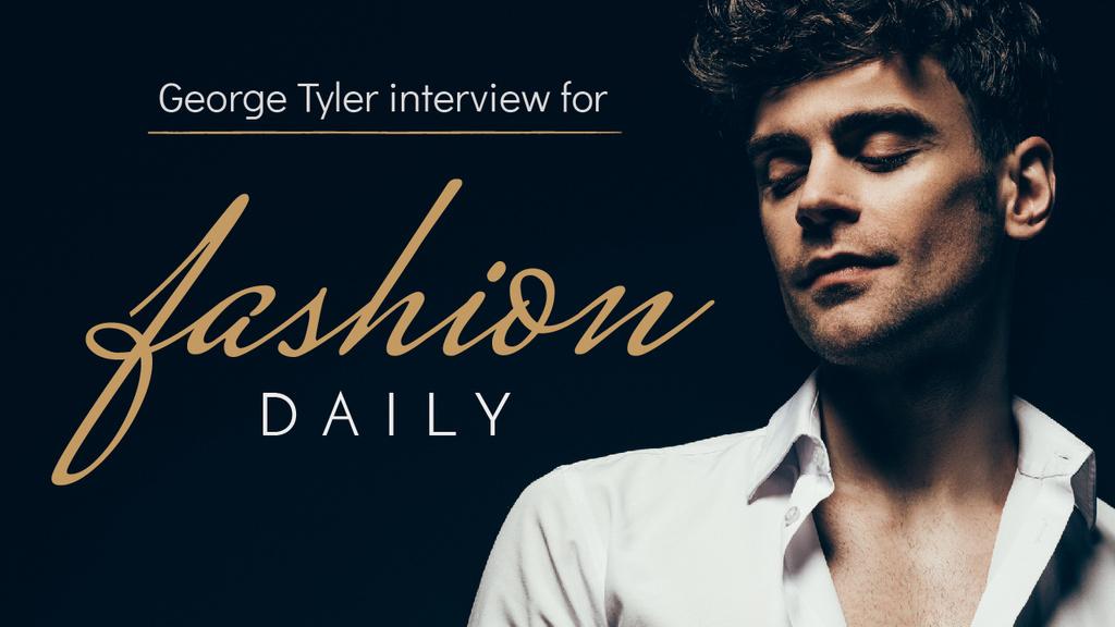 Fashion Blog Handsome Man in White Shirt — Crear un diseño