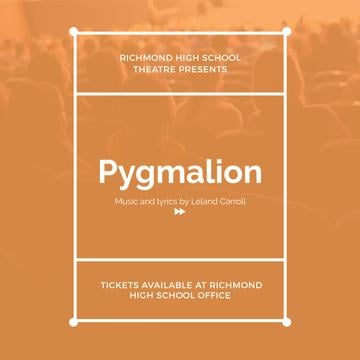 Pygmalion performance in Richmond High Theater