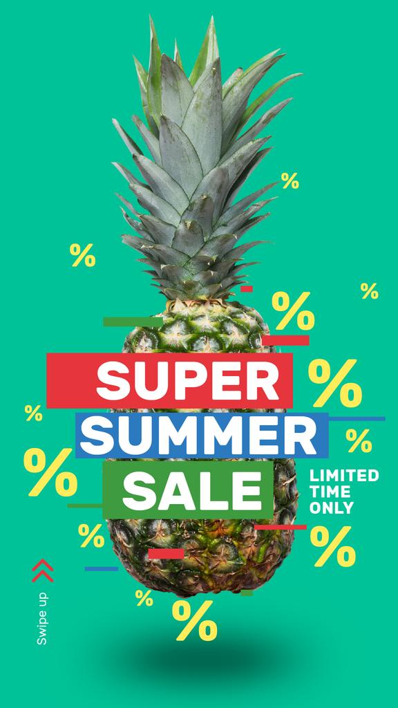 Summer Sale Raw Pineapple Fruit — Modelo de projeto