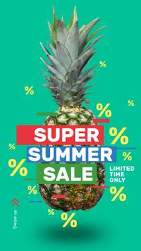 Summer Sale Raw Pineapple Fruit | Stories Template