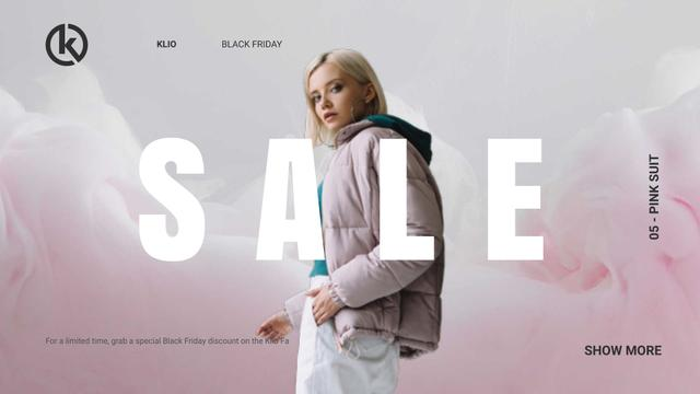 Template di design Black Friday Sale Girl in Stylish Outfit Full HD video
