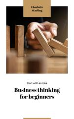 Business Ideas Man Stopping Falling Dominoes