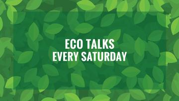 Ecological Event Announcement Green Leaves Texture | Youtube Channel Art