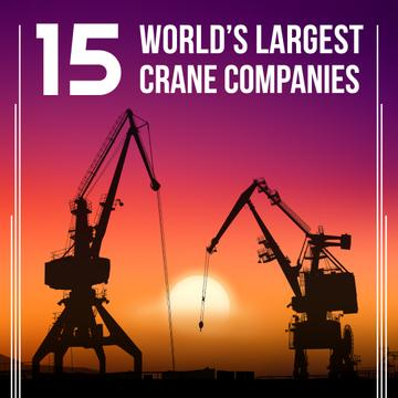 Large Cranes in Sunset