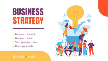 Plantilla de diseño de Business Strategy Courses People Growing Bulb Full HD video