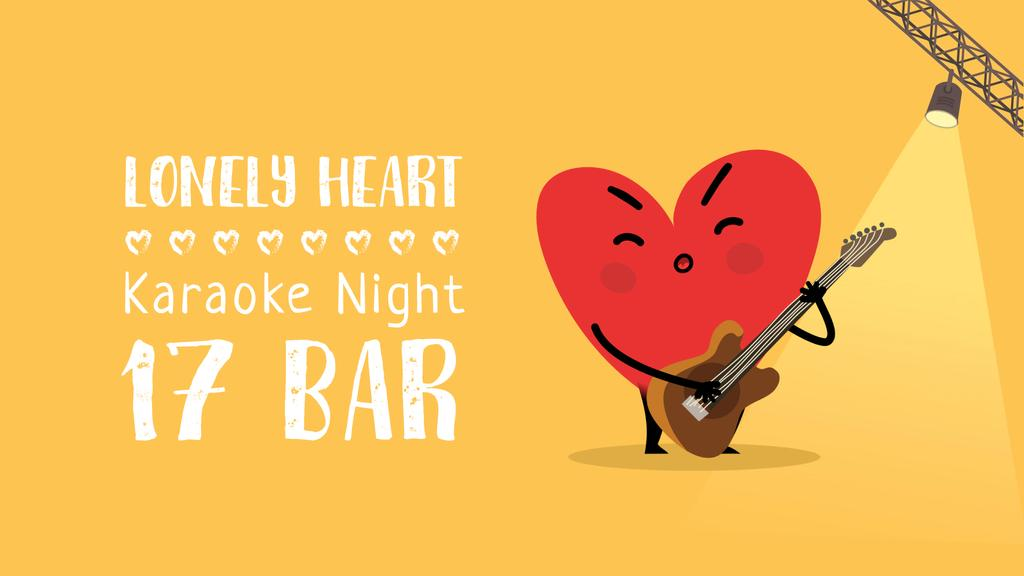Heart playing guitar on stage — Create a Design