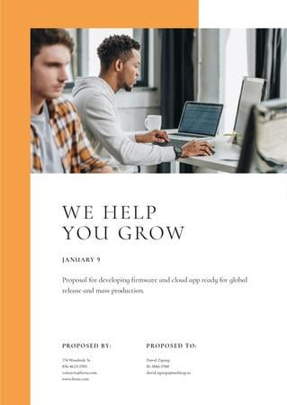 Plantilla de diseño de Developers Team services for business projects Proposal