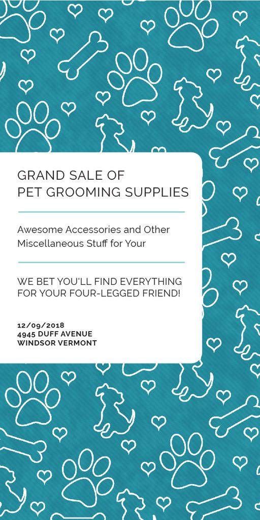 Grand sale of pet grooming supplies — Crear un diseño