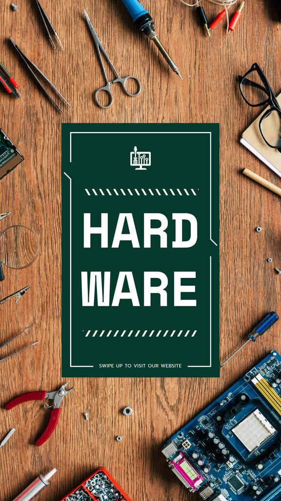 Hardware repair services with Circuit board — Создать дизайн