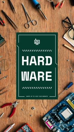 Ontwerpsjabloon van Instagram Video Story van Hardware repair services with Circuit board