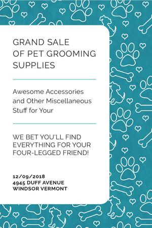 Designvorlage Grand sale of pet grooming supplies für Pinterest