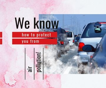 Cars and Air Pollution Concept
