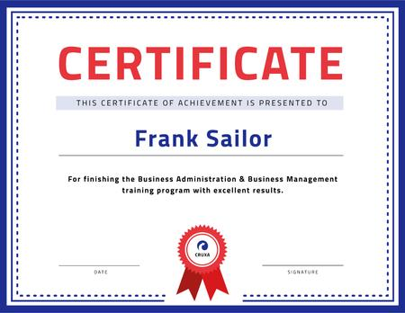 Designvorlage Business Course program Achievement with stamp für Certificate