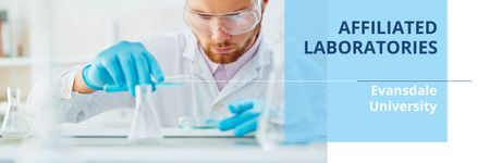 Affiliated laboratories poster Twitter – шаблон для дизайну