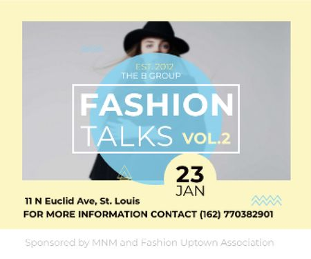 Template di design Fashion talks poster Large Rectangle