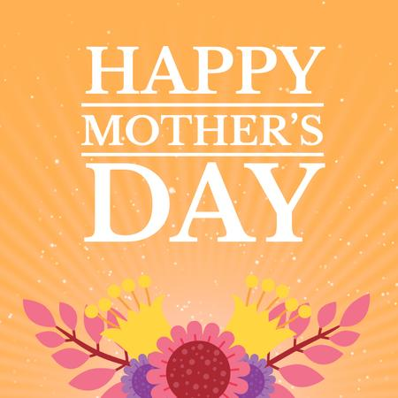 Template di design Mothers Day Greeting with Blooming Bright Flowers Animated Post