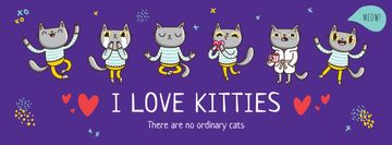 Love kitties poster