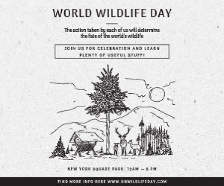 World wildlife day Medium Rectangle Tasarım Şablonu