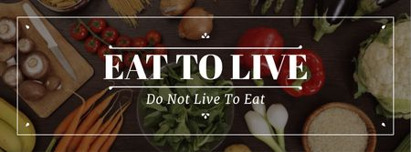 Template di design Healthy nutrition cooking ingredients Facebook cover