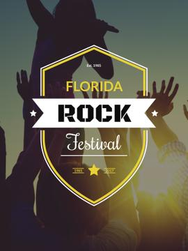 Florida rock festival poster