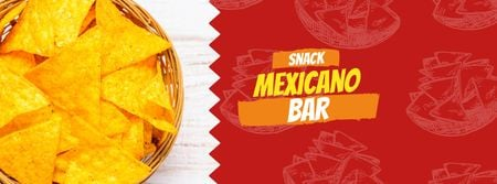 Tortilla chip Mexican dish Facebook cover Design Template