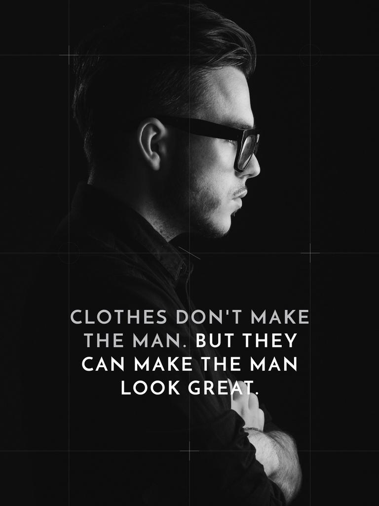 Businessman Wearing Suit in Black and White — Créer un visuel
